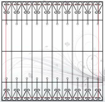 Biztonsági rács minta - lakatos Dunaharaszti