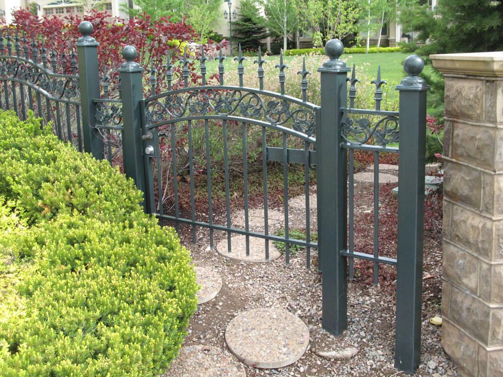Kovácsoltvas kerítésminta - lakatos Szentmártonkáta